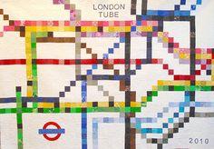 London Tube Underground Map quilt and pattern at Tikki London