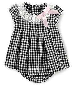 68c761e79 Bonnie Jean Baby Baby Girls Newborn-24 Months Cap-Sleeve Checked Float  Dress Baby