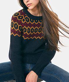 Camisola de malha jacquard Poncho, Ideias Fashion, Sweaters, Knitting Sweaters, Nightgown, Mesh, Stuff Stuff, Tricot, Sweater