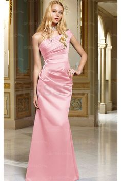 Outstanding Wedding Floor-length One Shoulder Zipper Sheath Party Dresses - Formal Dresses - Special Occasion Dresses - Dresshop.com.au