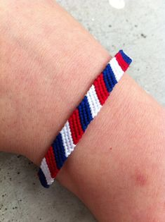 The French Flag Friendship Bracelet by LAWSeME on Etsy, $5.00