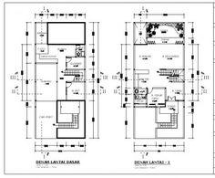 45+ Gambar Denah Autocad Rumah Minimalis 2 Lantai Gratis Unduh