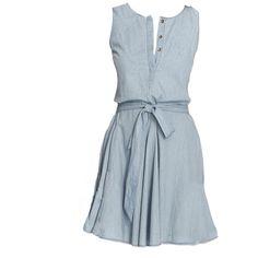Heartloom Sky Blue Denim Song Dress ($154) ❤ liked on Polyvore featuring dresses, vestidos, vestiti, blue summer dress, t-shirt dresses, shirt dress, flared dress and summer shirt dresses