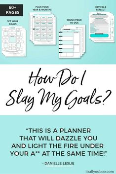 SET GOALS & ACTUALLY ACHIEVE THEM. You've just set a new goal for yourself and right now you're pumped about changing your life for the better... but in a few days you're already struggling to make it happen. STOP STRUGGLING AND START SLAYING YOUR #GOALS
