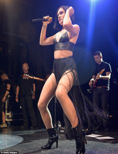 Jessie J wowed the crowd with her black leather bra and her fringe skirt