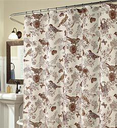 birds-of-paradise-duck-weave-shower-curtain