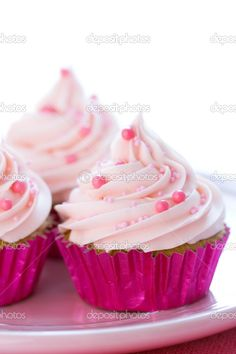 Hot pink foil baking cups.