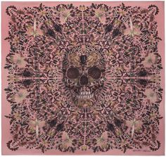 Judecca Skull Scarf, collaboration of Damien Hirst and Alexander McQueen, celebrating the 10th anniversary of the iconic skull scarf