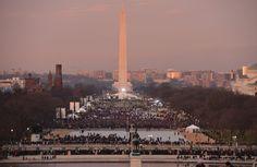 The Reflecting Pool and Washington Monument. via The Washington Post #obama #inauguration