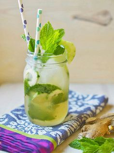 Ginger Lychee Mojito via LittleFerraroKitchen.com by FerraroKitchen1, via Flickr