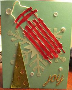 Stampin' Up! demonstrator Julie B's project showing a fun alternate use for the Watercolor Winter Simply Created Card Kit.
