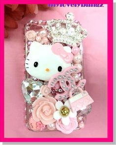 hello kitty bling cell phone case