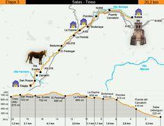 Stage 3 Map, Camino Primitivo, Salas to Tineo, Asturias, Spain