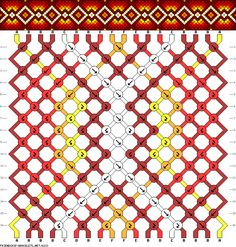 Friendship Bracelet Pattern 6233 - 18 strings, 6 colours
