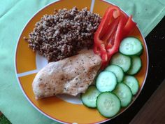 my way to fitness Grains, Pork, Rice, Meat, Fitness, Kale Stir Fry, Seeds, Pork Chops, Laughter