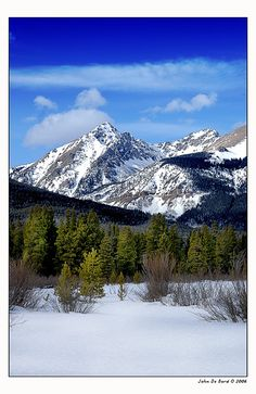 Mt Patterson, Rocky Mountain National Park, Colorado; photo by John De Bord