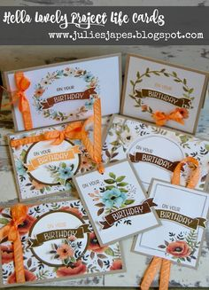 Julie Kettlewell - Stampin Up UK Independent Demonstrator - Order products 24/7: Final Hello Lovely Project Life makes