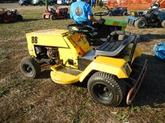 Suped up lawn mower for racing with The Virginia Lawn Mower Racing Association