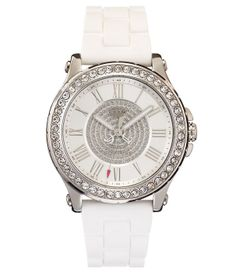 3d76b361643 Juicy Couture Pedigree Silver and White Jelly Watch
