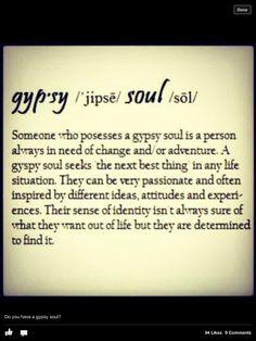 Do you have a gypsy soul?
