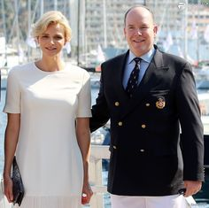 Princesse Charlène et prince Albert de Monaco