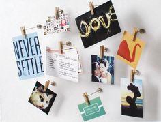 Decorative Clothespin Photo Hangers, available at Archiver's