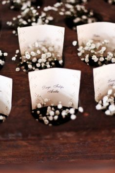 Baby's Breath Place Setting