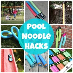 10+ Pool Noodle Hacks for Kids via createcraftlove.com *I want to make those light sabers!!!!*