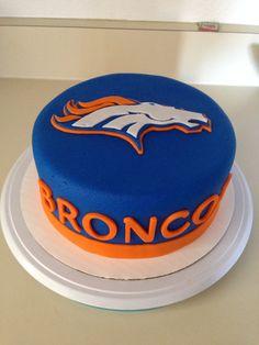 Cakes by Kirsten Denver broncos cake football cake denver cake