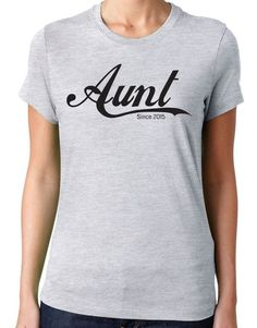 Aunt since is the best gift for your aunt.  You won't find a softer, lighter, or more comfortable t-shirt out there. This premium tee is made with 100% ringspun combed cotton, which makes it look nicer, feel softer, and overall higher quality than the standard tee. The fabric is pre-laundered to reduce shrinkage.