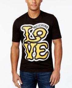 Love Moschino Men's Graphic-Print T-Shirt - Black