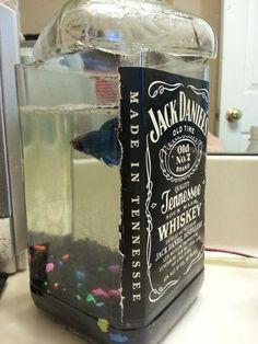 Jack Daniels bottle re-purpose Alcohol Bottle Crafts, Alcohol Bottles, Wine Bottle Crafts, Glass Bottles, Empty Liquor Bottles, Jack Daniels Gifts, Jack Daniels Bottle, Diy Bottle, Bottle Art