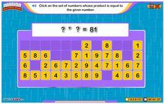 """En """"Mission Multiplication"""" es necesario acabar con el tablero de números adivinando los factores de una multiplicación con un producto dado. La agilidad necesaria en el dominio de las tablas de multiplicar hará que el tiempo empleado sea menor y la puntuación sea mayor. ¡Compite contigo mismo o con otros! Es interesante el sonido que indica en inglés la operación realizada, pero, si te cansas del sonido repetitivo, puedes quitar el sonido."""