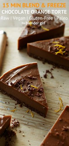 This raw vegan chocolate cake with orange as super easy to make, and is rich, creamy, and absolutely delicious. Serve with cream or ice cream. #rawveganchocolateorangecakerecipe #cake