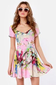 Splash of the Bright-ans Print Dress. It's adorable!!