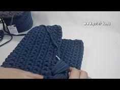 Сумка с клапаном из пышных столбиков, ч. 2 - YouTube
