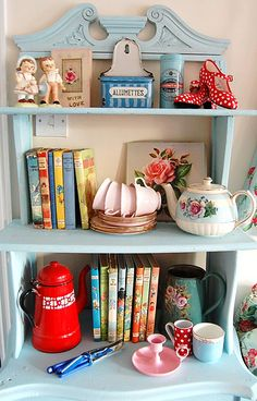 cute shelf and accessories
