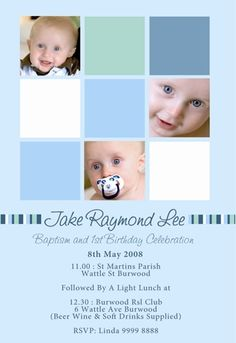 Free christening invitation templates baptism invitations birthday and baptism together invitations baptism invitation for a boy stopboris Gallery