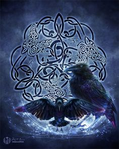 Mystic Raven Celtic Raven Triskele heidnischer von BrightArrow