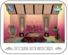 Sims 4 Designs: Decorative Iron Headboards