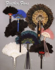 Custom Masks — Gypsy Renaissance - Handmade masquerade masks, flapper headbands, and hairclips Antique Fans, Vintage Fans, Ostrich Feathers, Peacock Feathers, Feather Bouquet, Hand Fans For Wedding, Hand Held Fan, Feather Crafts, Wall Fans