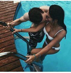 Love | Couple Goal | Kiss | Pool | Bikini | Romance | Relationship | Together | Swim together