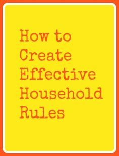 Creating Effective Household Rules | Christian Parent