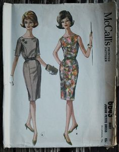 McCall 6643 1960s 60s Mod Wiggle Dress by EleanorMeriwether
