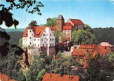 Hohnstein (Kr. Sebnitz) Blick zur Burg Castle Chateau