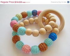 teether with bead rings