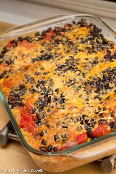 Quinoa Mexican Six-Layer Casserole