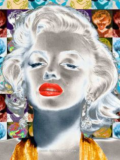 MARILYN MONROE Number  6   Large Pop Art Giclee Print by EisnerArt, $25.00