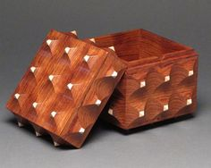 Decorative Wood Box, Secret Compartment, Bubinga And Maple