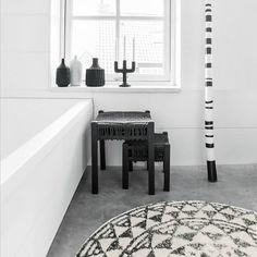 HK-living Vloerkleed badmat rond groot Ø120cm